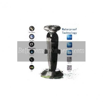 Buy 1280X720 Waterproof Shaver Camera DVR For Bathroom with 16GB internal Memory at Shaver Spy Camera,Bathroom Spy Camera professional shop
