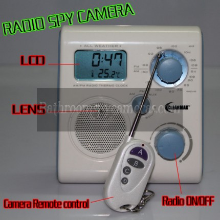 best LCD Radio Spy Camera Motion Activated 1080P HD Bathroom Spy Camera DVR 32GB Remote Control ON/OFF for sale? we are Shower Radio Spy Camera,Bathroom Spy Camera Manufacturers In China and can Supply You High Quality Products.