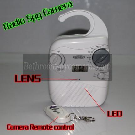 Buy Radio Camera Waterproof Hidden Spy HD 1080P DVR 32GB Motion Activated And Remote Control at Shower Radio Camera,Bathroom Spy Camera professional shop