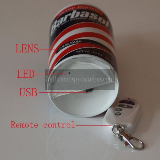 Buy Shaving Cream Pinhole Bathroom Spy Camera Dvr Hd