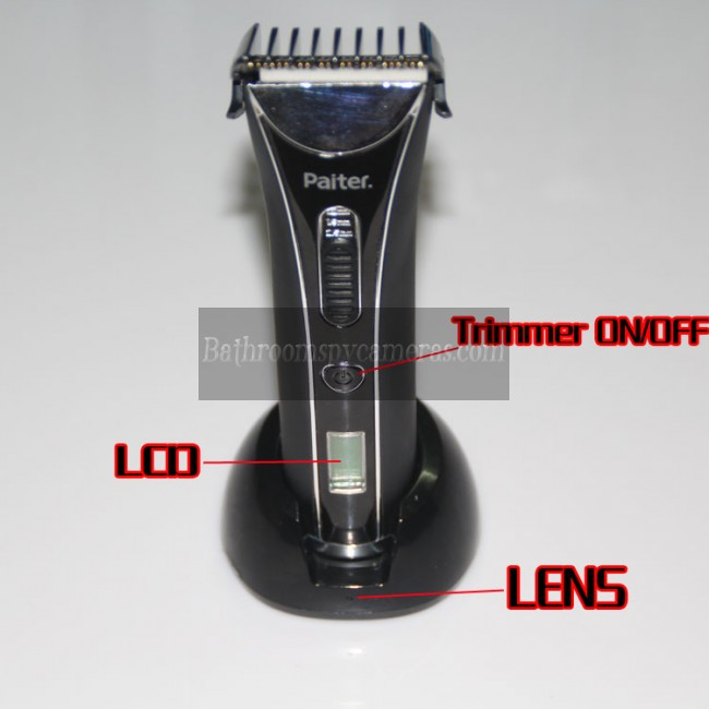 Hair Trimmer Spy Hidden Camera WaterProof HD DVR 720P 32GB Spy Camera