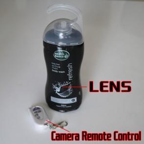 Buy Men's Shower Gel HD Shower Spy Camera 720P DVR 16GB (Remote Control) at Bathroom Spy Camera professional shop